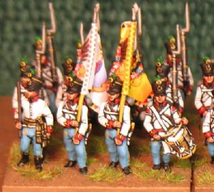 15mm, Napoleonic Austrian Fusiliers (Hungarian) Red Facings 1806+AB 24 Figures